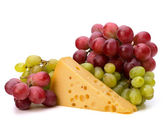 Perfect bunch of grapes and cheese — Stock Photo