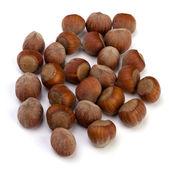 Hazelnuts isolated on white background — Stock Photo