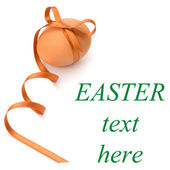 Easter egg with festive bow — Stock Photo
