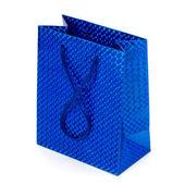 Glossy festive gift bag — Stock Photo