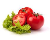 Tomate, salada de legumes e alface pepino — Foto Stock