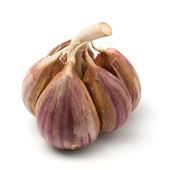 Garlic isolated on white background — Stock Photo
