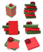 Подарки, изолированные на белом фоне — Стоковое фото