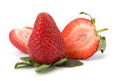 Strawberries isolated on white background — Stock Photo