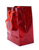 Gift bag isolated on white background — Stock Photo
