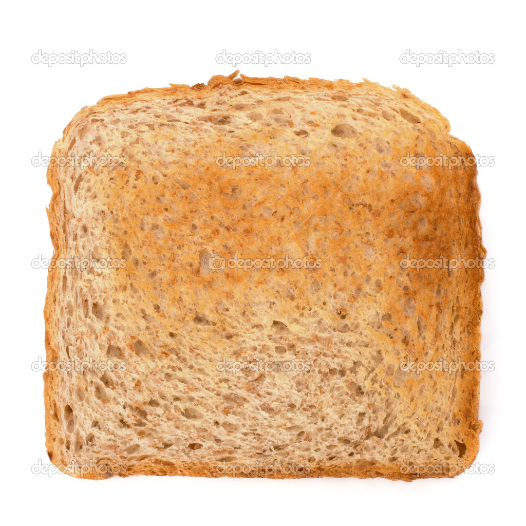 Crusty bread toast slice isolated on white background — Stock Photo #7011570
