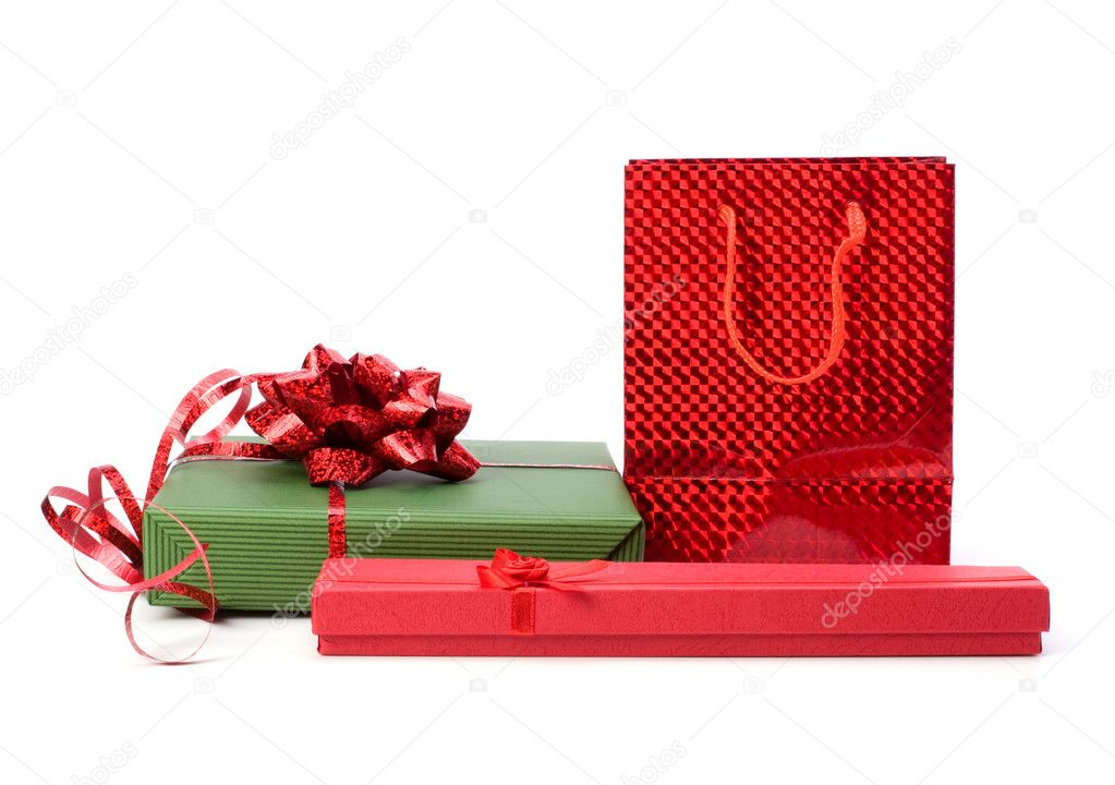 Gifts  isolated on white background  Stock Photo #7015981