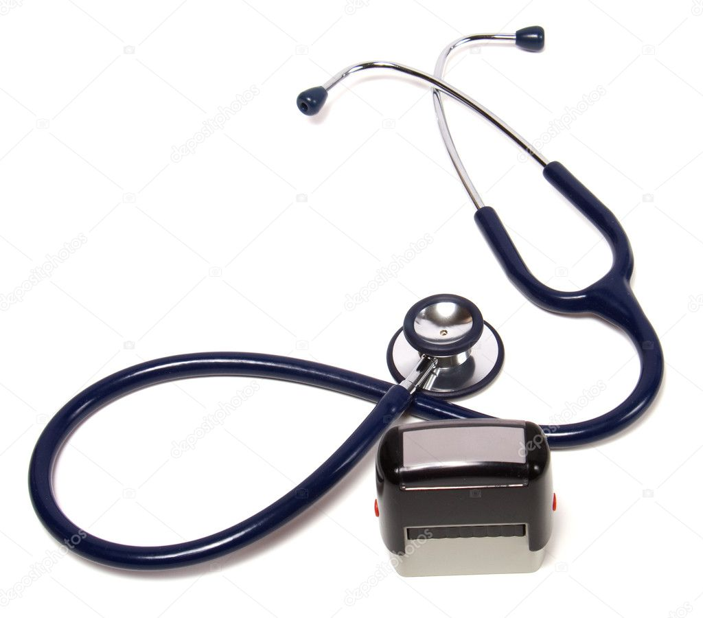 Doctor Background Stethoscope and doctor seal