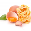 Italian egg pasta fettuccine nest - Stock Photo