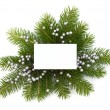 Christmas decoration with greeting card - Stockfoto