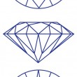 Diamond vector graphic scheme - Imagen vectorial