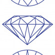 Diamond vector graphic scheme - Stock Vector