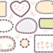 Cute doodle floral vector frame set — Stock Vector #7319939