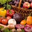 Stock Photo: Vegetable and fruits food still-life