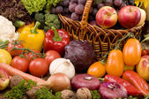 Vegetable and fruits food still-life — Stock Photo