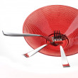 Forks on red plate — Stock Photo