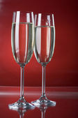 Two champagne wineglasses — Foto de Stock