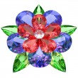 Flower composed of colored gemstones — Stock Photo #6794827
