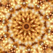 Mosaic kaleidoscope of circular lights - Stock Photo