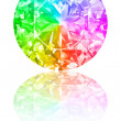 Stock Photo: Diamond of rainbow colours on white