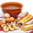 Christmas food in Ukraine - kutya, donuts and poppy cakes — Stock Photo #7643543