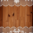 Wooden background with lace frame — Stock Photo #6790403