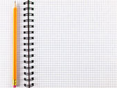 Notepad notebook with pencil — Stock Photo