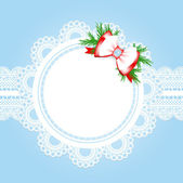 Christmas lace frame — Stock Vector