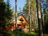 Log House in the forest — Stock Photo
