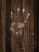 Impressão de mão — Fotografia Stock