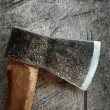 Old axe - Stock Photo