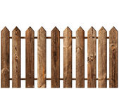 Fence over white — Stock Photo
