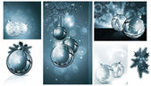 New year and Christmas backgrounds collection — Stock Vector