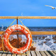 Life-buoy ring - Stock Photo