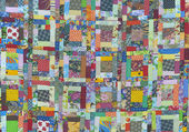 Quilt-Beautiful Patch work — Stock Photo