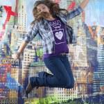 Jumping girl — Stock Photo