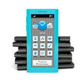 Smartphone turquoise — Photo