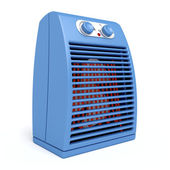 Blue electric heater — Stock Photo