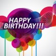 Colorful Happy Birthday banner - Vettoriali Stock