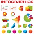 Colorful infographic vector collection - Vettoriali Stock