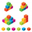 Vector colourful childrens blocks - Vettoriali Stock