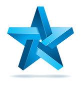 Unreal geometrical star vector — Stock Vector