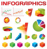 Kleurrijke infographic vector collectie — Stockvector