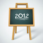 2012 on class chalkboard vector background — Vettoriale Stock
