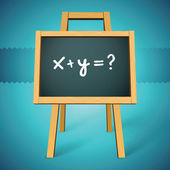 Chalkboard vector with x y=? text — Stockvector