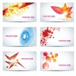 Stock Vector: Colorful businesscard templates