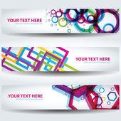 Bannières abstraites colorées — Vecteur
