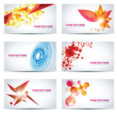 Modelli colorati businesscard — Vettoriale Stock