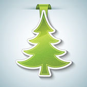 Christmas tree vector sticker — Stock Vector