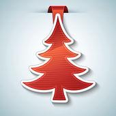 圣诞树矢量贴纸 — 图库矢量图片